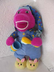 fisher brush teeth barney dinosaur plush