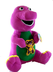 barney plush bear holding teddy very