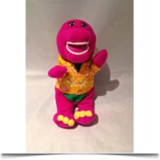 6 Barney In Hawaiian Shirt Bean Bag Plush