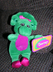 plush bean doll barney dinosaur high