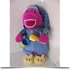 Brush Your Teeth Barney Dinosaur Plush