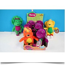 Buy Set Of 4 8 Inch Barney Plush Collectables