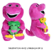 barney friends gree yellow assorted character