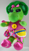 barney dinosaur talk dress plush child