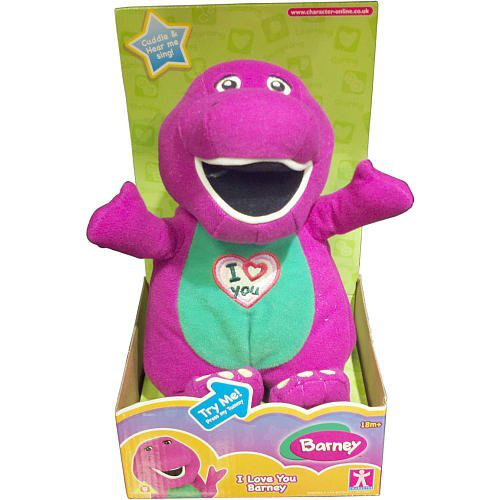 Plush I Love You Singing Barney 11
