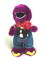 Barney The Dinosaur Farmer Barney Plush