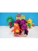 Set Of 4 8 Inch Barney Plush Collectables